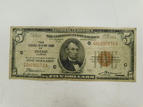 1929 CHICAGO $5 NATIONAL NOTE