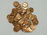(50) 1959D RED UNC PENNIES