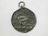 1915 BIGGSVILLE IL. SILVER ATHLETIC MEDAL