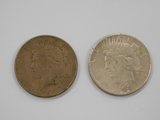 (2) 1927 SILVER PEACE DOLLARS