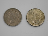 (2) 1923 SILVER PEACE DOLLARS