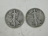 1928S & 1937D LIBERTY HALF DOLLARS