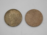 (2) 1922 SILVER PEACE DOLLARS