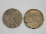 (2) 1928 SILVER PEACE DOLLARS