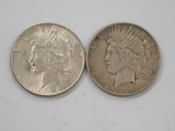 1928 & 1934 SILVER PEACE DOLLARS
