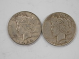 (2) 1935 SILVER PEACE DOLLARS