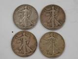 (2) 1944;(1) 1938;(1)1933 LIBERTY WALKING SILVER HALF DOLLARS