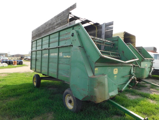 JOHN DEERE 115 CHUCK WAGON SILAGE WAGON ON 1065 GEAR