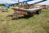 SHOP BUILT FLAT BED FARM TRAILER W/ 2 RAMPS