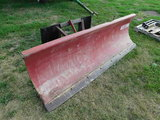 WESTERN 7 1/2FT SNOW PLOW WITH UNIVERSAL SKID LOADER MOUNT
