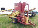 NEW HOLLAND 355 GRINDER MIXER W/ SIDE TABLE & SCALES