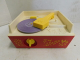 VINTAGE FISHER PRICE MUSIC BOX RECORD PLAYER