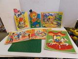 (6) VINTAGE CARDBOARD TRAY PUZZLES