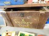 WOODEN TREASURE TOY BOX