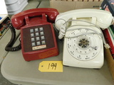 BELL SYSTEMS ROTARY & AT&T PUSH BUTTON DESK TELEPHONES