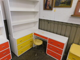 7 DRAWER BOOKCASE / DESK WITH CHAIR