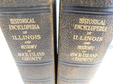 1914 TWO VOL. BOOKS HISTORICAL ENCYCLOPEDIA OF ILLINOIS - ROCK ISLAND COUNTY