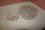 VINTAGE CAKE PLATE & CANDY DISH