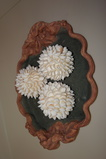 CHARLESTOWN PORCELAINE  TRAY W/ (3) SHELL BALLS