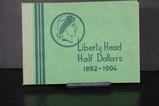 BARBER HALF DOLLAR ALBUM W/ COINS