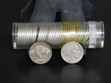 PARTIAL ROLL OF (37)  MIXED DATE BUFFALO NICKELS