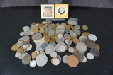 LARGE BAG OF FOREIGN COINS