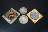 (4) LARGE SILVER COINS