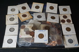 BAG OF ASSORTED WHEAT, INDIAN HEAD AND MEMORIAL COINS
