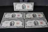 (5) 1953 $2 RED SEAL STAR NOTES
