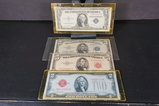 (4) ASSORTED RED SEAL & SILVER CERTIFICATES