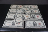 (10) 1953 TWO DOLLAR RED SEALS