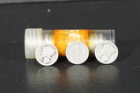 ROLL OF MIXED DATE MERCURY DIMES