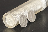 ROLL OF MIXED DATE ROOSEVELT & MERCURY DIMES