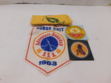 1950 & BOY SCOUT JAMBOREE PATCH / STICKER W/ SCARF & BANNER