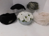 (5) ASSORTED VINTAGE LADIES HATS