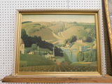 FRAMED 1930 GRANT WOODS FARM PRINT