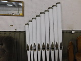 SET OF 9 HANDMADE ORGAN PIPES - DECORATION ONLY