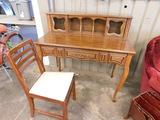 QUEEN ANNE STYLE WOODEN  DESK & CHAIR