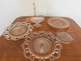 (6) MISC. PINK DEPRESSION GLASS ITEMS
