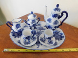 SMALL CHINA BLUE & WHITE CHILDS TEA SET