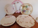(5) ASSORTED FLORAL PLATES