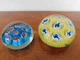 (2) HOUSE OF GOEBEL GLASS PAPERWEIGHTS