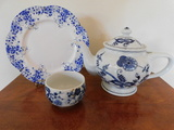 BLUE DANUBE TEA POT, SHELLEY DAINTY BLUE PLATE