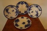 (4) FLOW BLUE PLATES
