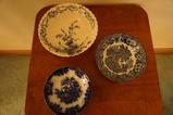 (3) FLOW BLUE BOWLS
