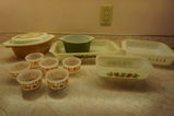 ASSORTED VINTAGE PYREX & FIREKING BAKING DISHES