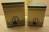 (2) VINTAGE TIN CANISTERS