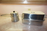 MIRRO DOUBLE BOILER & ALUMINUM ROASTER