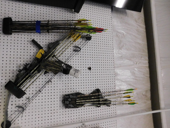 DARTON USA COMPOUND BOW / (3) QUIVERS, WRIST GUARDS & ARROWS