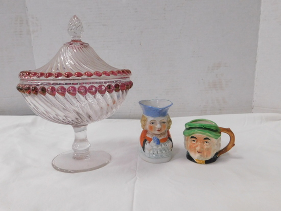 (2) TOBY MUG CUP / PITCHER & CANDY DISH